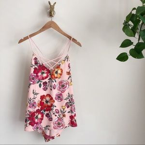 New!! Strappy EXPRESS floral dressy tank❤️